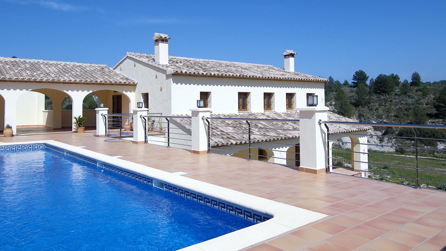 Pda. Vinyent (Benissa). Casa diseñada y construida por Arquifach, estudio de arquitectura Alicante, Costa Blanca.