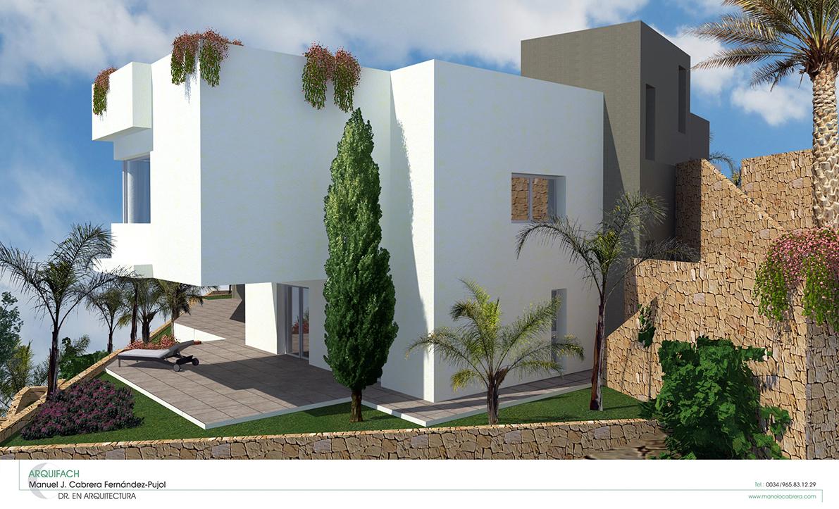 Un nouveau projet est déjà en cours dans le studio d'architecture Alicante Arquifach. Villa Gades, une maison individuelle sur la Costa Blanca.